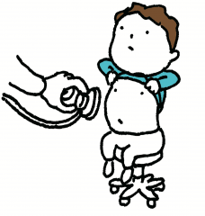 診察受けるヨシタケさんロゴ4